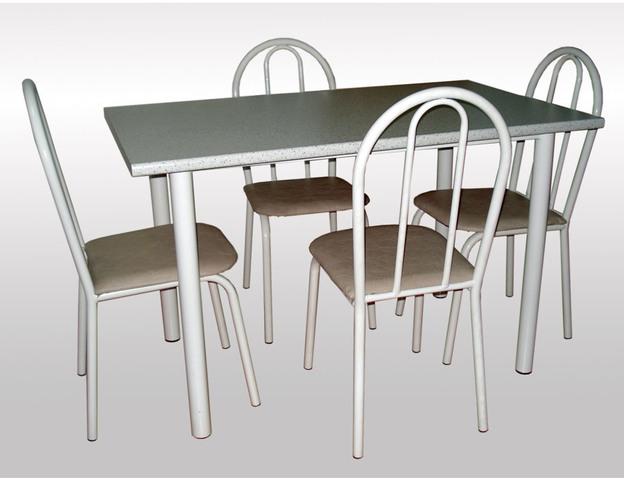 Мебель с белым металлическим каркасом