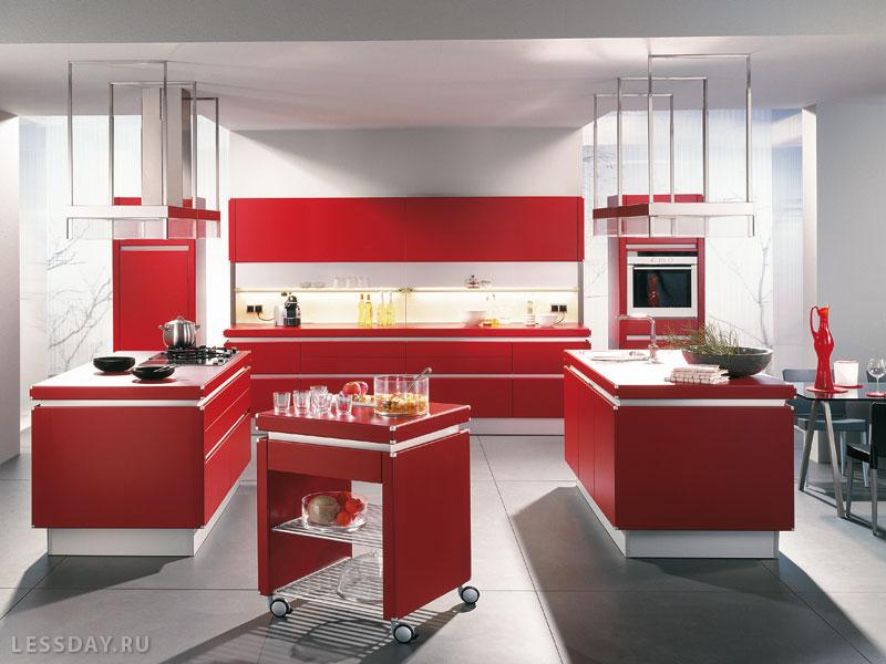 Мебель с красными фасадами