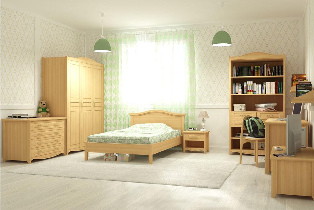 Мебель светлого тона для детской комнаты