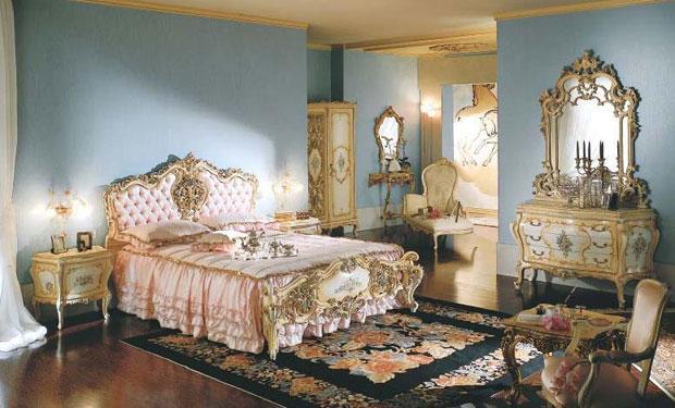 Мебель во французском стиле в спальне