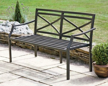 Металлические садовые скамейки
