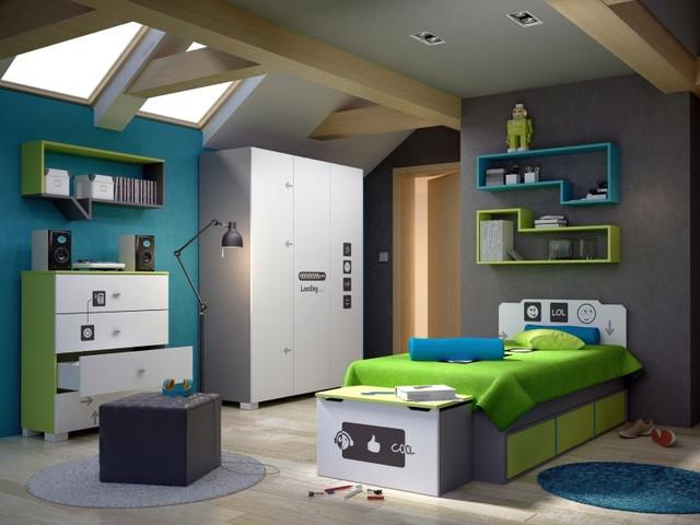 Молодежная мебель в ярких тонах