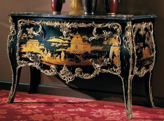 Мотивы шинуазри на мебели рококо