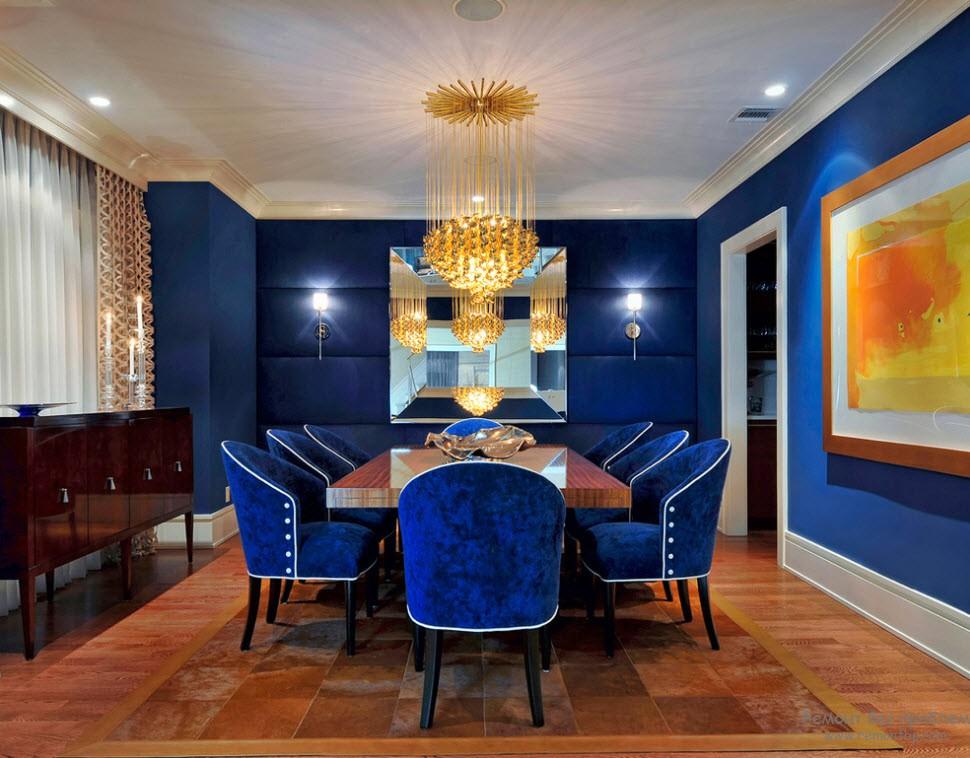 Мягкая мебель в насыщенных синих цветах
