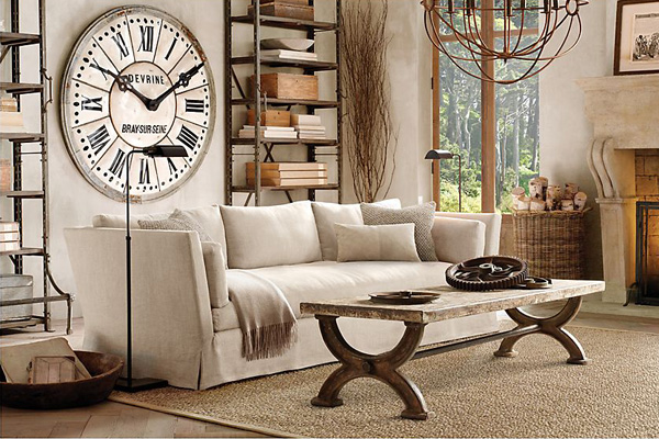 Мягкий диван для скандинавскного стиля интерьера