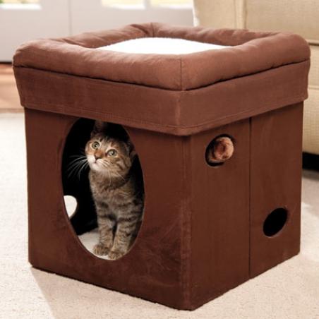 Мягкий домик пуфик