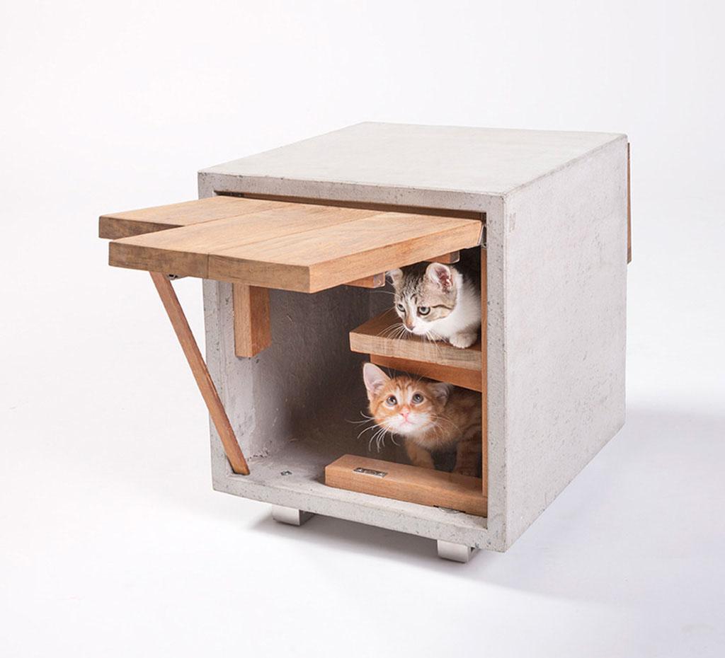 Необычные дизайнерские домики для кошек
