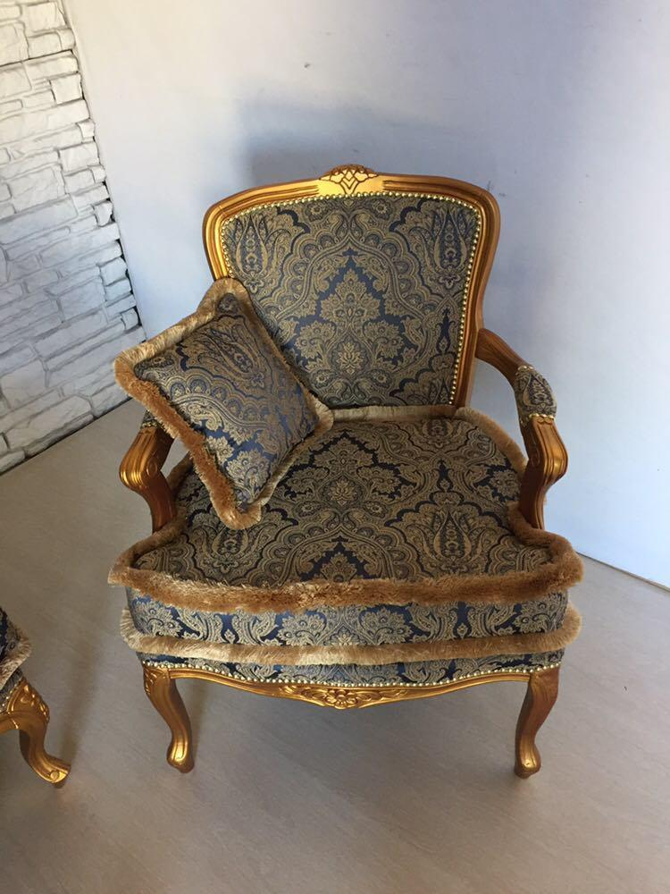 Новое итальянское мягкое кресло в стиле рококо