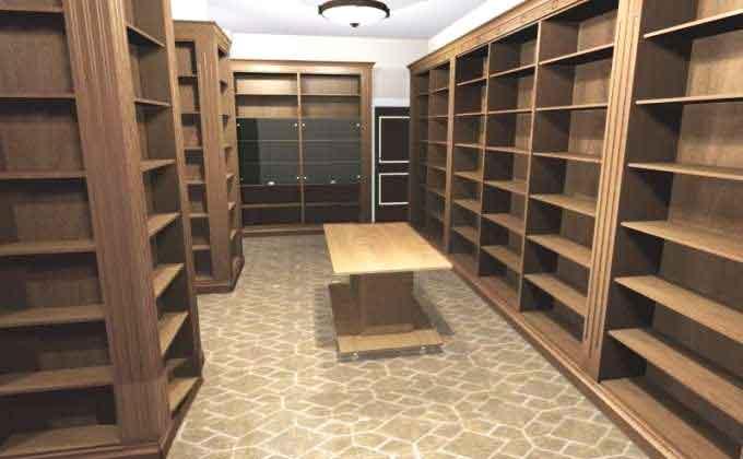 Обустройство домашней большой библиотеки
