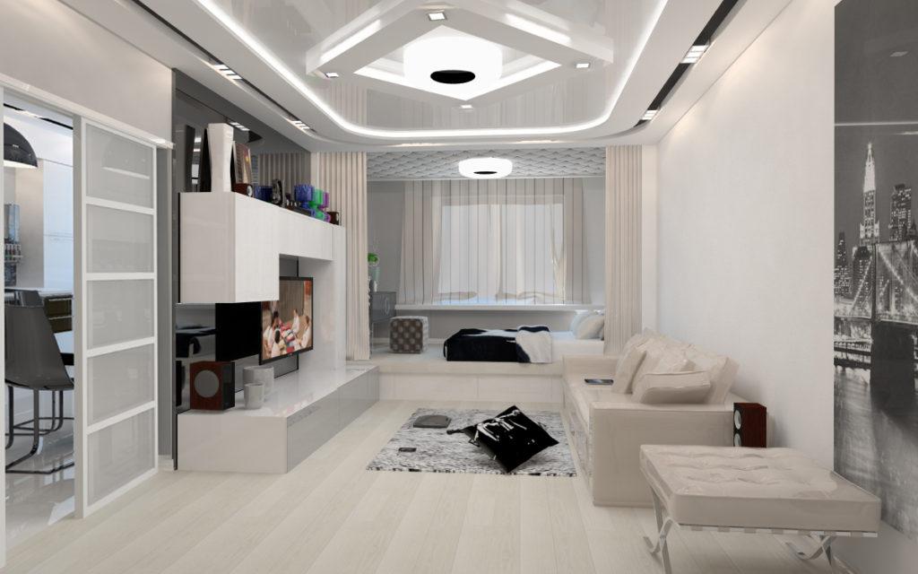 Оформление стильного зала