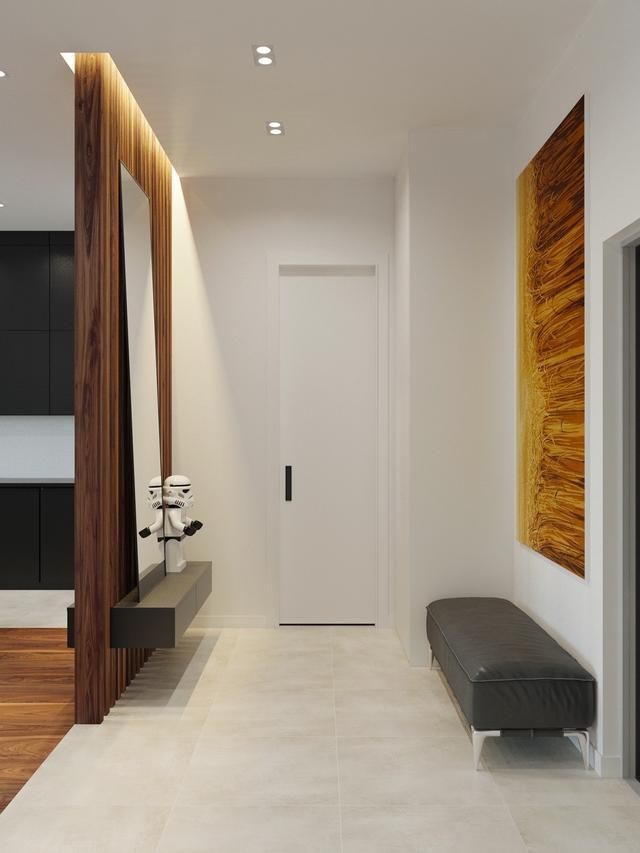 Оформление узкой прихожей комнаты