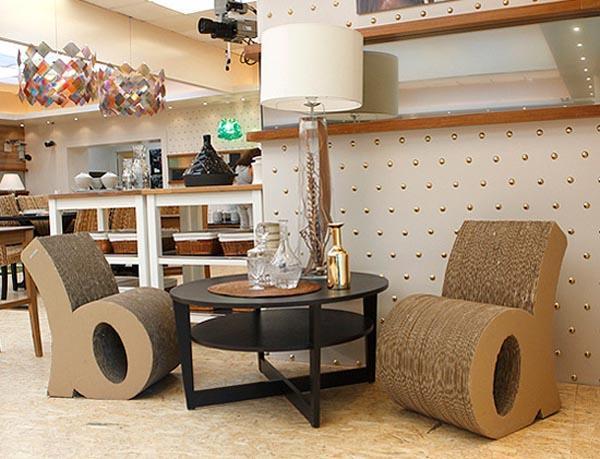 Оригинальная мебель из картона