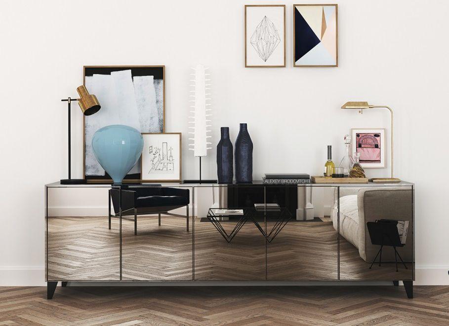 Оригинальная мебель из зеркал