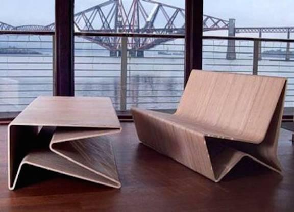 Оригинальные гнутые стулья