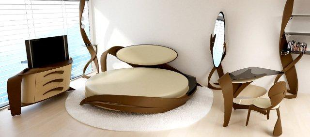 Оригинальные линии мебели из дерева