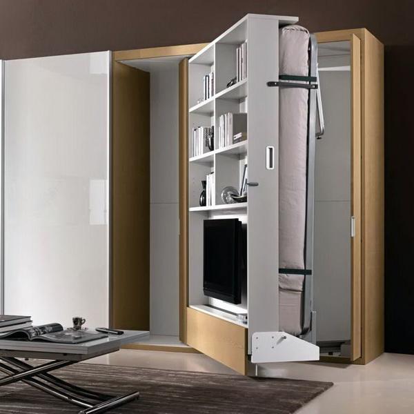 Откидная вращающаяся кровать-шкаф