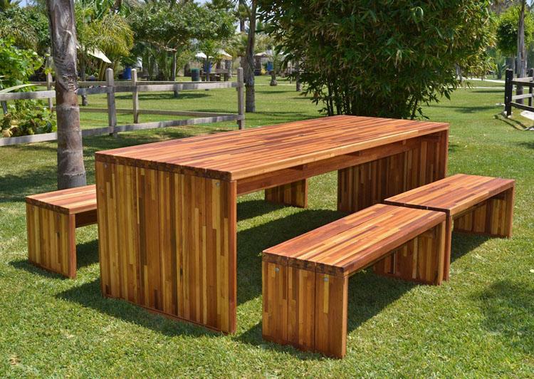 Парковая мебель из дерева