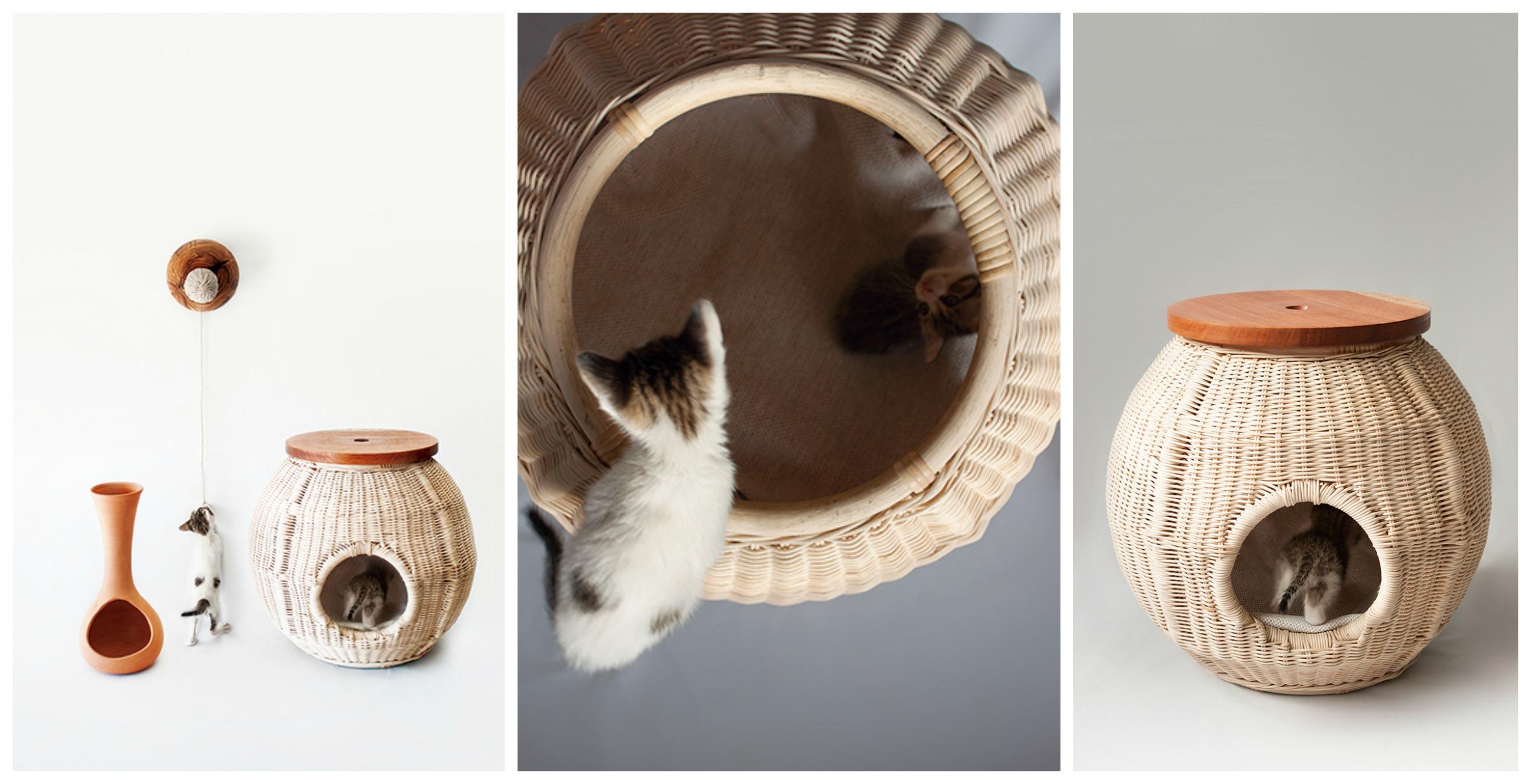 Плетеные домики для кошек
