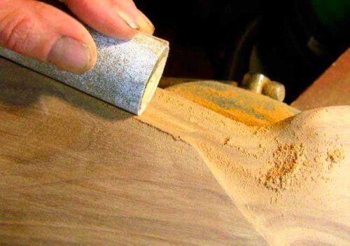 Подготовка деталей мебели из ДСП перед покраской