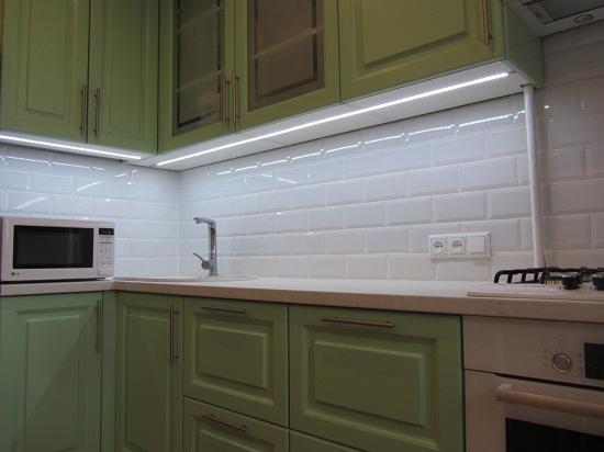 Подсветка кухонных мебельных гарнитуров