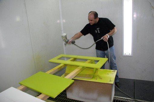 Покраска ДСП мебели