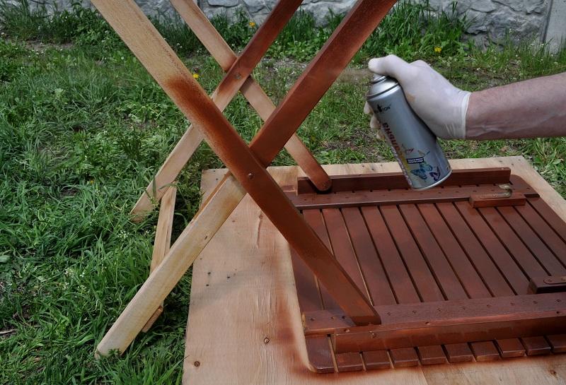 Покраска мебели из баллончика