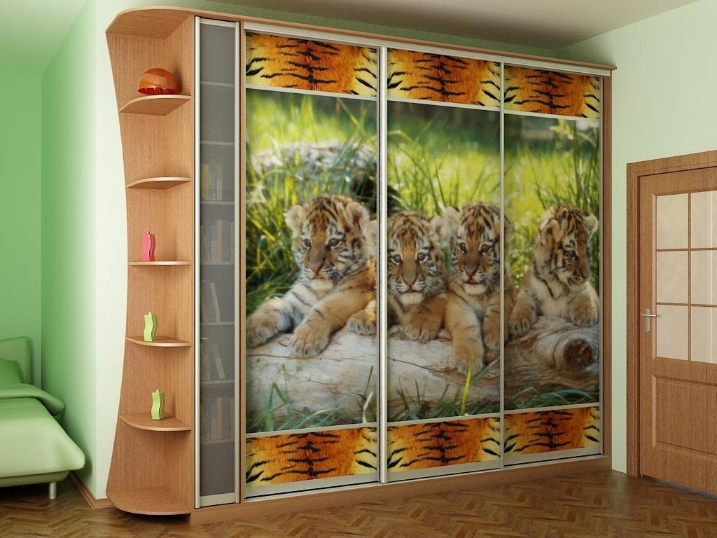 Полноценный рисунок на шкафу