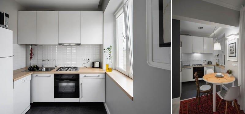 Практичный кухонный гарнитур в современном стиле минимализм