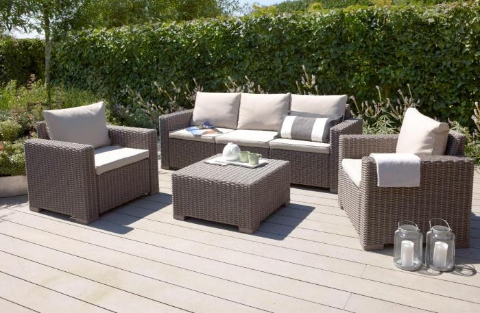 Применение ротанга для изготовления террасной мебели