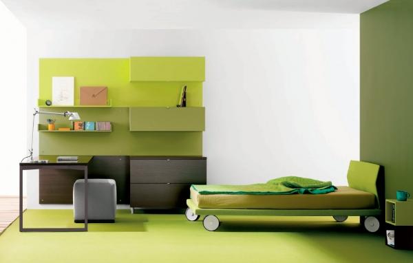 Применение шкафа зеленого цвета