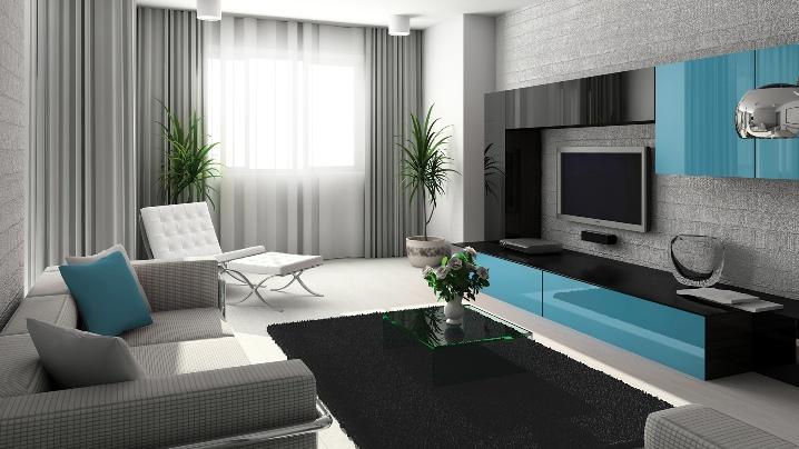 Приятные оттенки мебели для гостиной комнаты