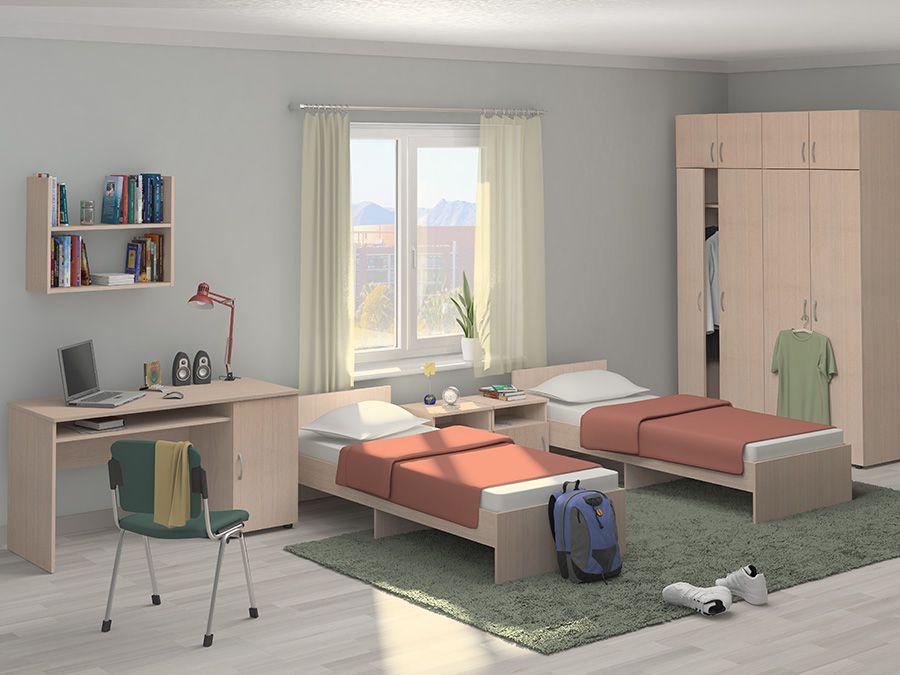Проект комнаты для двоих человек