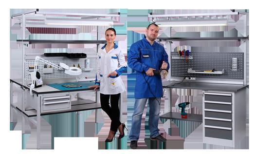 Промышленная антистатическая мебель