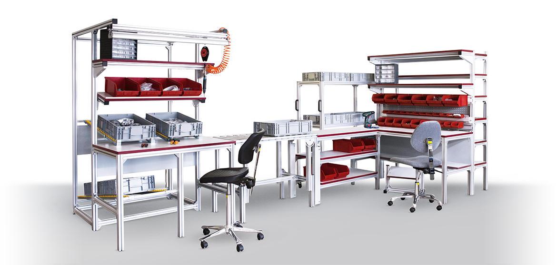 Промышленная мебель из конструкционного профиля