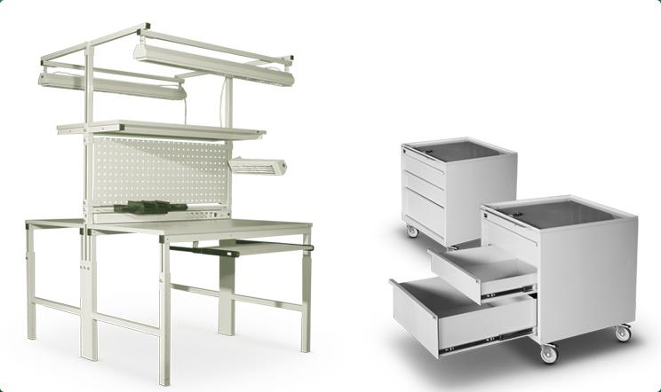Промышленная металлическая мебель для работы
