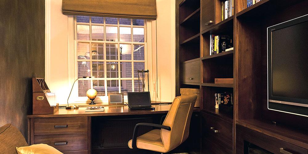 Рабочий кабинет в доме из СИП панелей