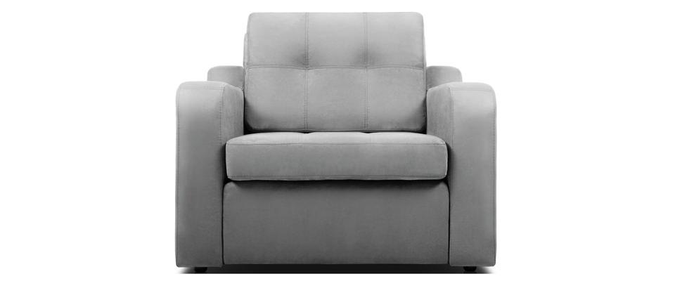 Раскладное кресло серого цвета