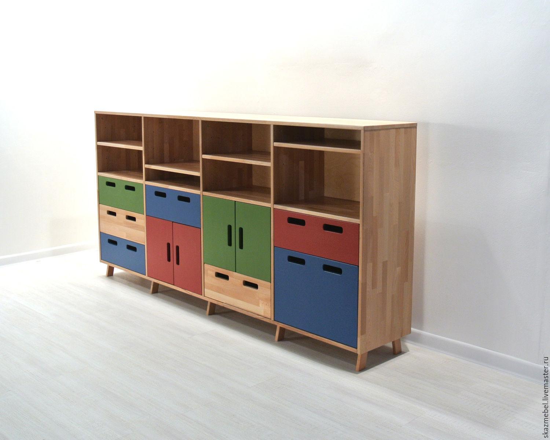 Шкаф стеллаж для книг и игрушек буковый