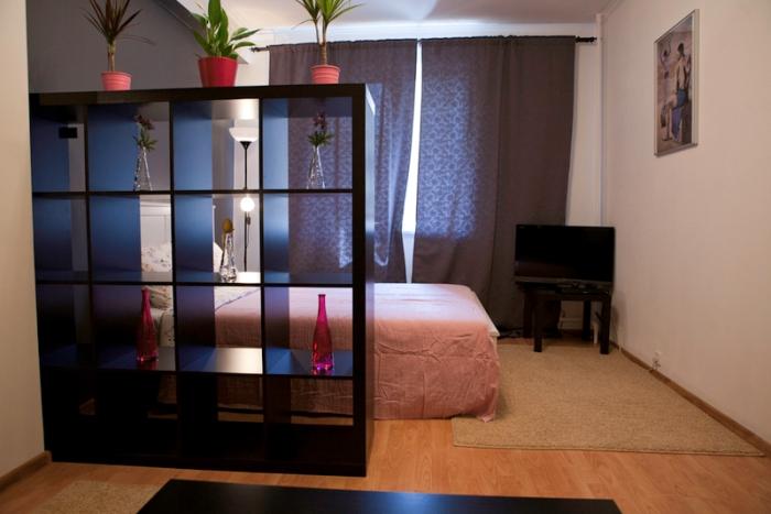 Шкаф-стеллаж для разделения квартирного пространства