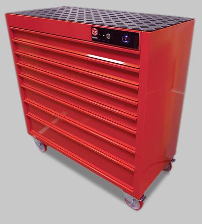 Шкафы для инструментов красного цвета
