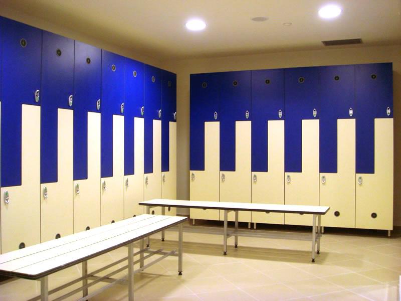 Шкафы для раздевалок из ДСП, что за материал