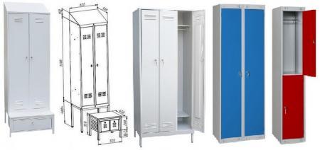 Обзор мебели в раздевалки, особенности моделей
