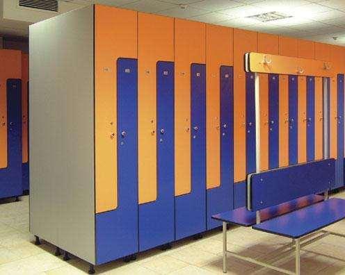 Шкафы и скамейки для раздевалок