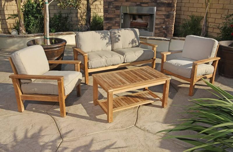 Садовая мебель из тика