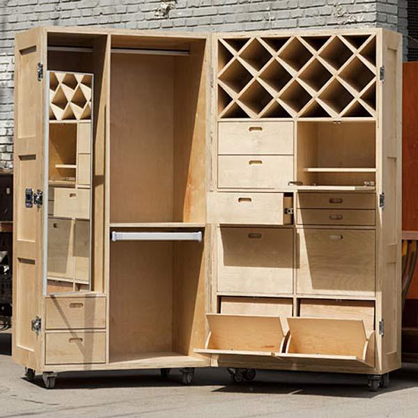 Складной функциональный шкаф