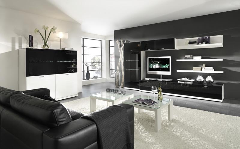 Сочетание черного и белого цвета в интерьере