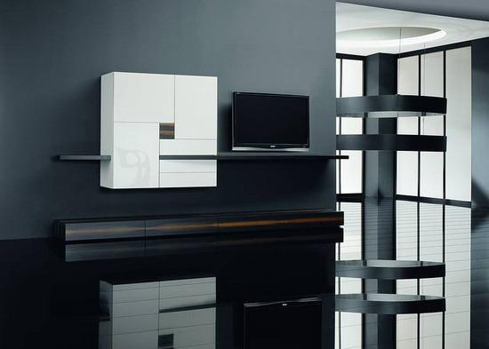 Сочетание черного и белого цвета в современном стиле