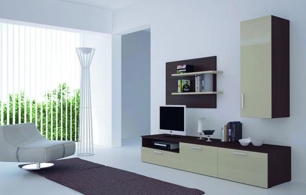 Современный дизайн гостиной стенки