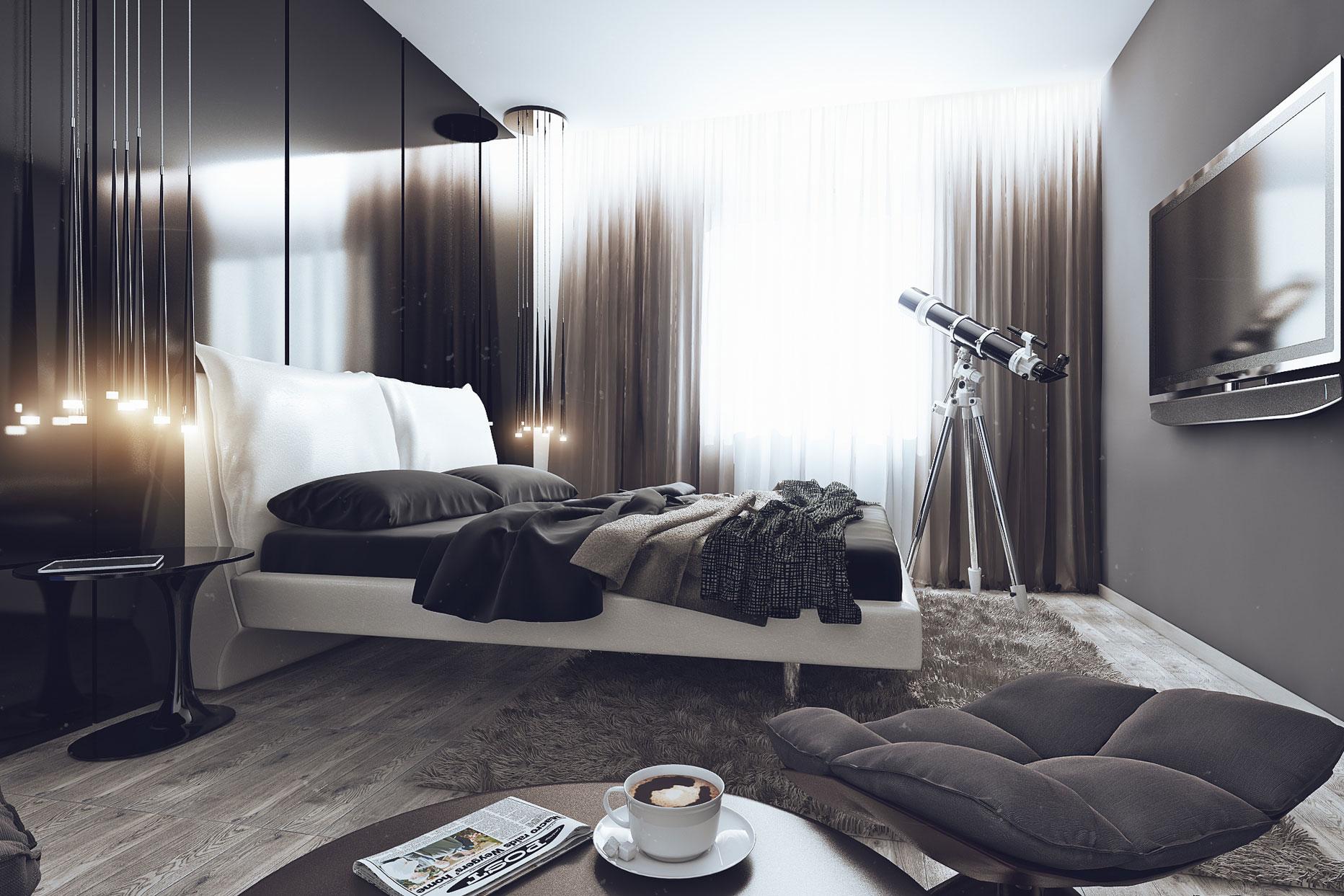 Спальня в стиле хай-тек 2017
