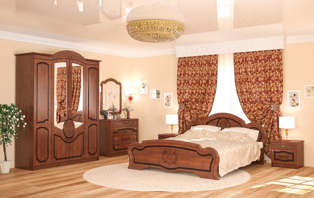 Спальный комплект из прочного МДФ